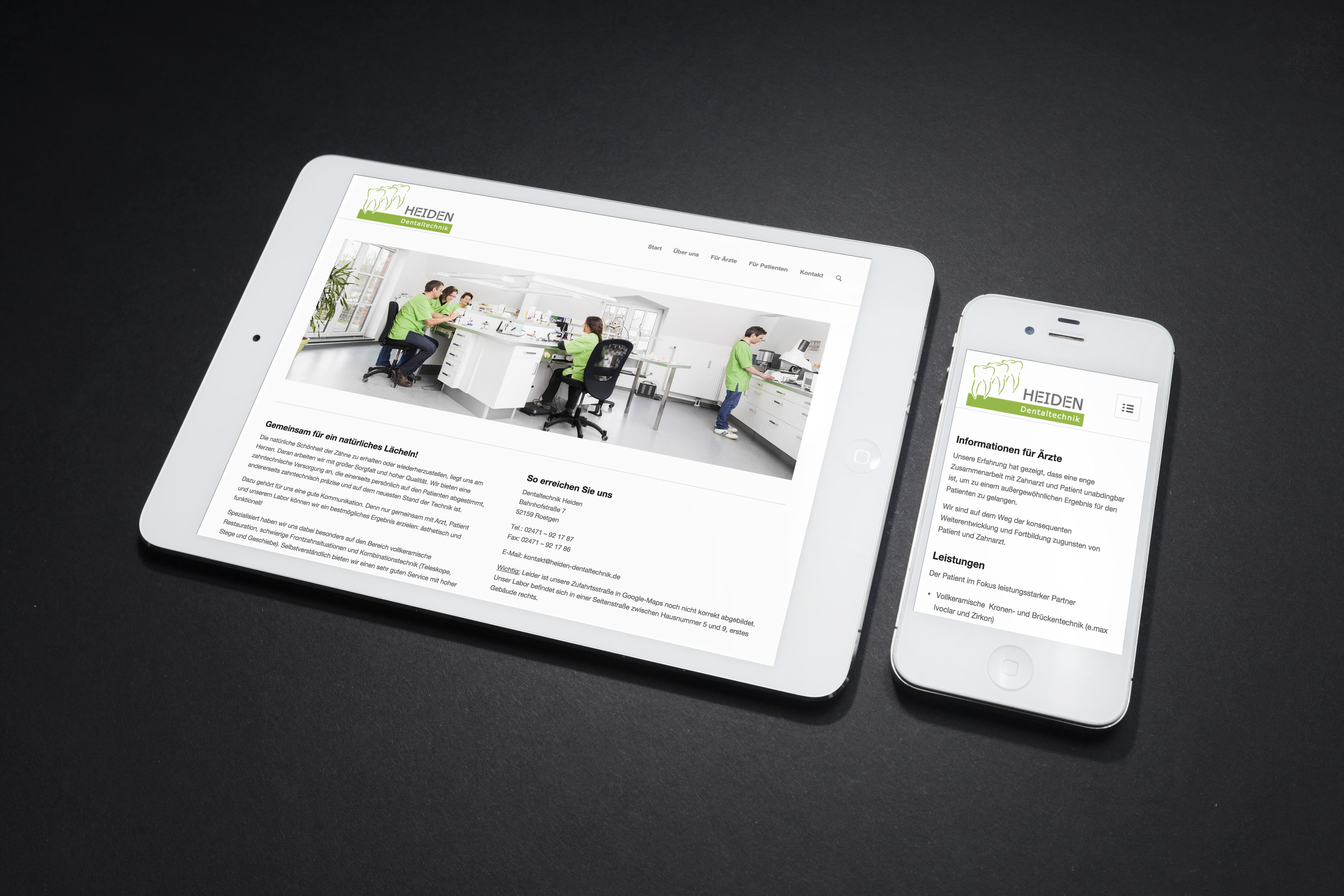 heiden-dentaltechnik-webdesign
